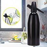 TXYFYP con Gas Agua Máquina, 1000Ml Portátil Hogar Bar Soda Máquina Sifón Botella Bricolaje Fabricación Zumo Limonada - Negro, Free Size