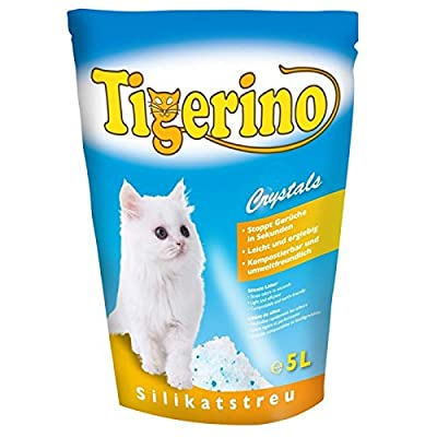 ZM Tigerino Crystals Litter Box 6 Packs of 5 Litres Silicon Litter Tray Crystals Tigerino for Cats: Quickly eliminates bad smells, has a huge Absorbent Power and excellent yield