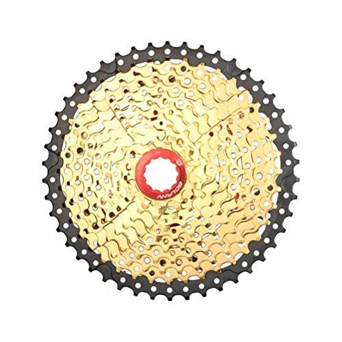 TBBA Cassette VTT 10 Vitesses 11-46T/11-50T Or Noir Roue Libre De Vélo pour VTT, Vélo De Route, VTT, BMX, SRAM, Shimano,10~Speed 11~46t