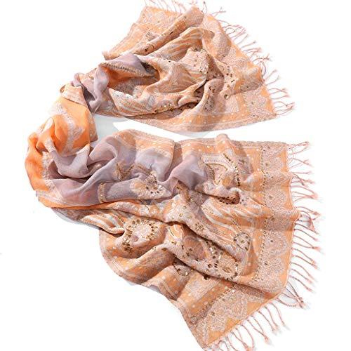 Xu Yuan Jia-Shop Moda Bufanda Chal De Gama Alta Bordados a Mano Chales Resorte de Las Mujeres Rosa Bufandas de Moda y el otoño Suave Bufanda, Bufanda acogedora
