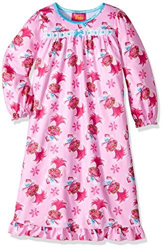 DreamWorks Girls' Toddler Trolls Nightgown, Poppy Baby Pink, 3T