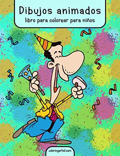 Dibujos animados libro para colorear para niños