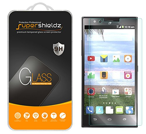 Supershieldz for ZTE Lever LTE Tempered Glass Screen Protector, Anti Scratch, Bubble Free