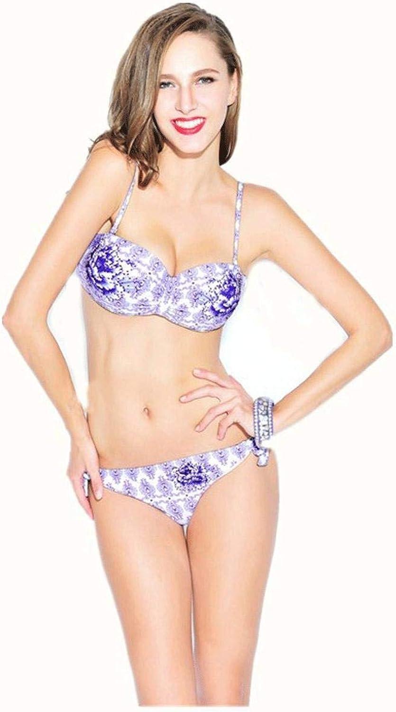 Yingsssq Damen Druck Bikini Split Dreieck Badeanzug Europa und die Vereinigten Staaten Fashion Bikini, m (Farbe   -, Größe   -) B07MCGS3D3  Attraktiv und langlebig
