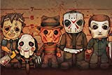 Get Down Art Monster Horror Poster Killer Line-Up Größe