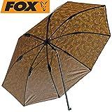 Fox Brolly Camo 45' - Angelschirm zum Karpfenangeln, Forellenangeln & Friedfischangeln, Schirm für Angler, Sonnenschirm zum Angeln