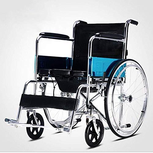 TYZXR Carrito manual plegable para hombre mayor, portátil, ligero freno de mano, aleación de aluminio ligero