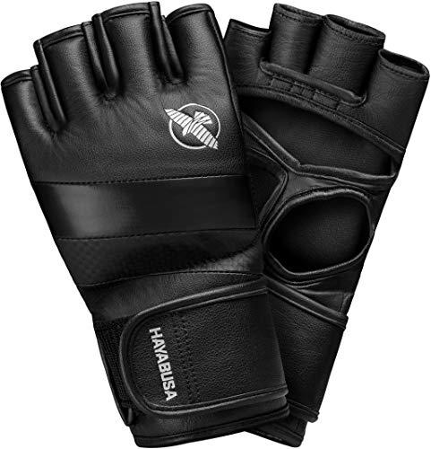 Hayabusa T3 - Guantes de artes marciales mixtas (4 onzas), color negro, mediano