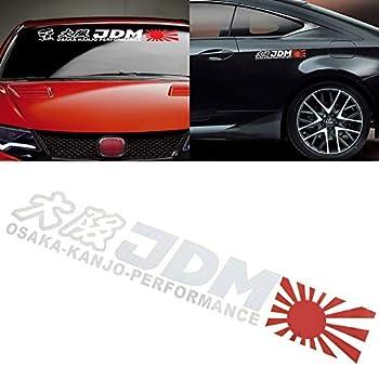 Xotic Tech Osaka-KANJO-Performance Letter Decal Rising Sun JDM Vinyl Sticker Decoration Universal fit