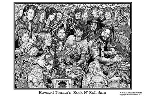 Picture Peddler Laminated Rock N' Roll Jam Poster by Howard Teman Music Poster 24x36