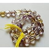 5Strand Ametrino Natural perlas, perlas de perlas de moneda, botón, Ametrino piedra, Ametrino joyería, 6mm perlas, 13pulgadas