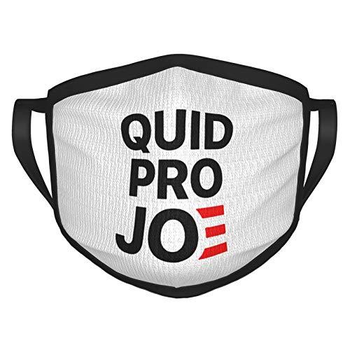 Quid Pro Joe Anti Joe Biden 2020 Funny Face Mask Cover Reusable Washable Comfortable Fabric Cloth Black