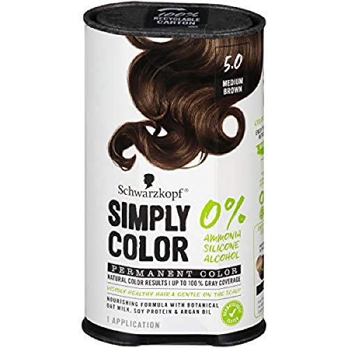 Schwarzkopf Simply Color Permanent Hair Color, 5.0 Medium Brown