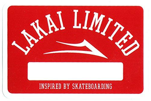 Lakai Chaussures de Skate Skateboard Autocollant Rouge – 8.5 cm de Large Environ Skate Snow Planche de Surf BMX
