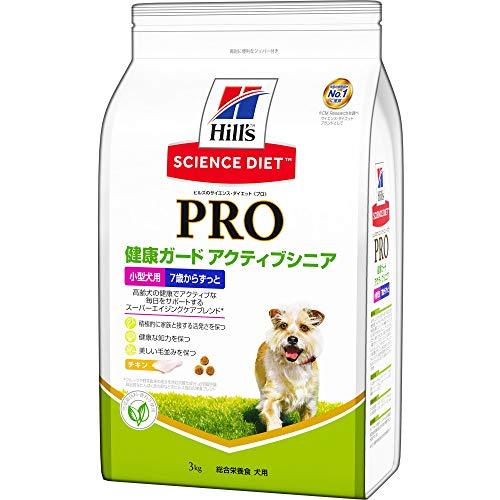 スマートマットライト ヒルズ サイエンス・ダイエット〈プロ〉 ドッグフード 健康ガード アクティブシニア 小型犬用 7歳からずっと 高齢犬用 3kg