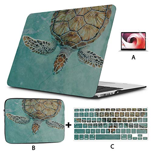 13 MacBook Case Sea Turtle Cancun Mexico Turtle Preserve Laptop Shell Case Hard Shell Mac Air 11'/13' Pro 13'/15'/16' with Notebook Sleeve Bag for MacBook 2008-2020 Version