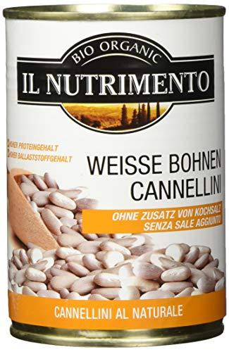 IL NUTRIMENTO Weisse Bohnen natur (Cannellini) - ohne Salz, 12er Pack (12 x 400 g)