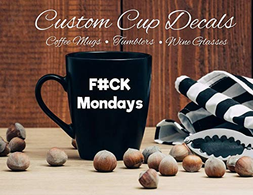 Custom Cup Decals, Tumbler Decals, Mok Decals, Glazen Decals