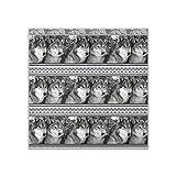 Écharpe carrée pour femme Motif têtes de loup 88,9 x 88,9 cm