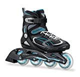 Bladerunner by Rollerblade Advantage Pro XT Women's Adult Fitness Inline Skate, Black and Light Blue, Inline Skates, Black/Light Blue, Size 7