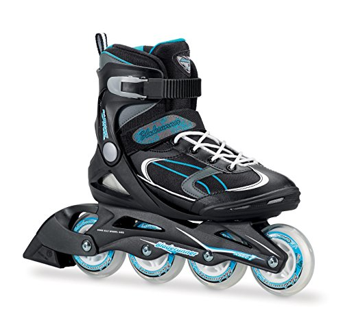 Rollerblade Bladerunner 0T613100821-8 Advantage Pro XT Women's Adult Fitness Inline Skate, Black and Light Blue, Inline Skates