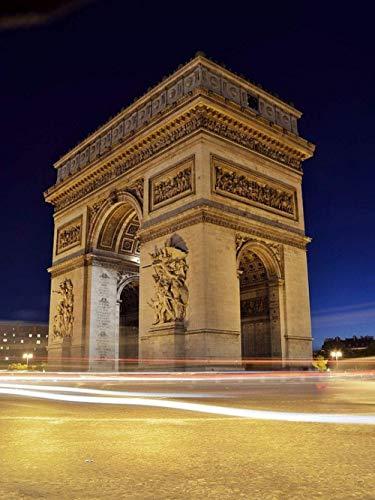 DFKDGL Rompecabezas de 500 Piezas para Adultos Arco del Triunfo, París, Francia 52x38 cm, Rompecabezas de Madera para Adultos Juguetes educativos en 3D DIY hogar d para ADU