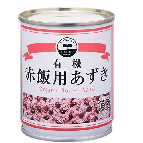 【オーガニック赤飯用あずき(遠藤製餡)230g×20缶】オーガニック小豆使用 煮汁付き、簡単調理