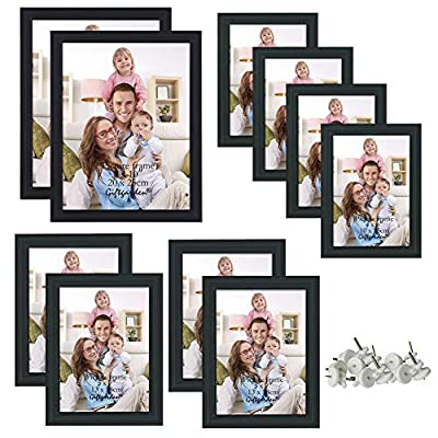 Giftgarden Black Picture Frames Set for Table Top and Wall Hanging