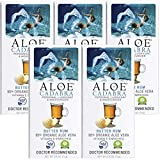 Aloe Cadabra Flavored Personal Lubricant Organic Passion Lube for Anal Sex, Oral, Women, Men & Couples, Butter Rum 2.5 Ounce (Pack of 5)