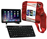Navitech Odys Wintab 9 Plus 3G 22,6 cm (8,9 Zoll) Tablet-PC Tablet Tasche in Rot mit Hybrid Set: Bluetooth Keyboard mit Tablet – Ständer