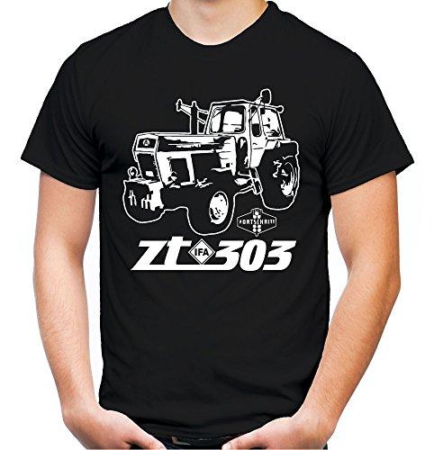 Traktor ZT Männer und Herren T-Shirt | 305 Oldtimer DDR Landwirt Bauer | M2 (XL, Schwarz)