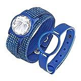 Swarovski Damen-Armband Activity Tracker Edelstahl Stoff weiß 36 cm - 5225811