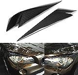 Cubierta de Cejas para Faros, Pegatina embellecedora, párpados de Fibra de Carbono para Cabeza de lámpara, para BMW X1 E84 2009-2014