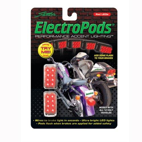 Street FX 1043311 ElectroPods Chrome Moto Brake Light