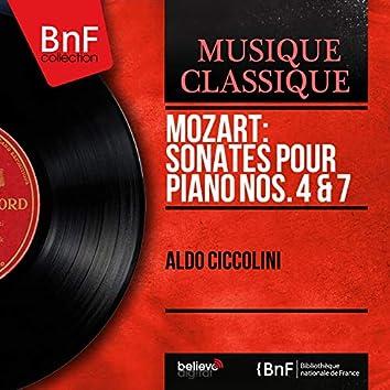 Mozart: Sonates pour piano Nos. 4 & 7 (Mono Version)