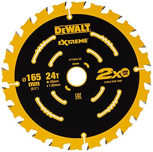 DEWALT DT10624-QZ Extreme Framing Circular Saw Blade 165 mm 24T