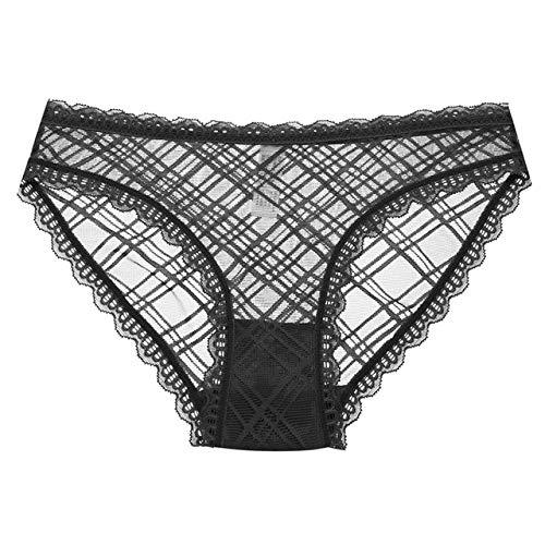 YPDDNK Merk Kant Panty 6 Kleuren Plaid Vrouwelijk Ondergoed Meisje Briefs Zachte Comfort Kant Panties Voor Vrouwen Mode Elegante Ondergoed Dames