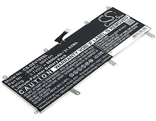Battery (3.7V 8600mAh) Replace for DELL Venue 10 5000, Venue 10 5050