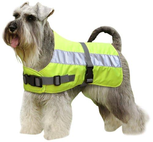 Flectalon Petlife Warnweste für Hunde, mit warmem Thermofutter, 55,9cm, Fluoreszierendes Gelb