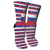Bosbweo Calcetines de equipo de bandera de Eslovaquia Calcetines elegantes novedosos adecuados para correr deportes senderismo