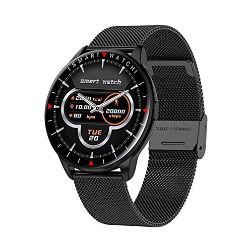 XYZK Moda Deporte Smartwatch Mensaje Notificación Control De Música Información del Tiempo Y90 Smart Watch Band,H