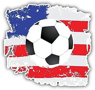 KW Vinyl Magnet Grunge USA Flag Soccer Ball Truck Car Magnet Bumper Sticker Magnetic 5