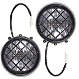 LABLT Pack of 2 Headlights Assembly Replacement for Yamaha Banshee 1987-2006 Lens Bulbs Lights Grills Warrior