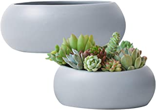 Amazon com: Grey - Ceramic / Pots, Planters & Container Accessories