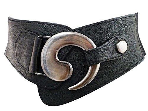 eloModa Damen Taille Stretchgürtel Breiter Hüftgürtel Gürtel 75-100 cm 08G