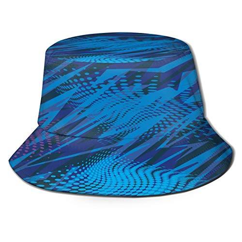 Yoliveya Sombrero de Pesca,Resumen Patrones Sin Fisuras Chicas Niños con Textura,Senderismo para Hombres y Mujeres al Aire Libre Sombrero de Cubo Sombrero para el Sol