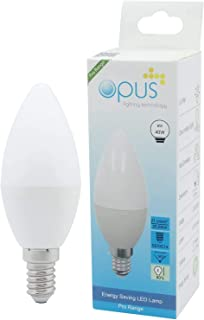 3 x Opus 6W = 40W LED Candle Light Bulbs Daylight SES E14 Small Screw Cap