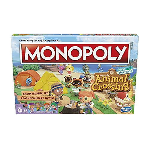 Hasbro Gaming Monopoly Animal Crossing New Horizons Edition Board Game for Kids Ages 8 and Up, Fun...