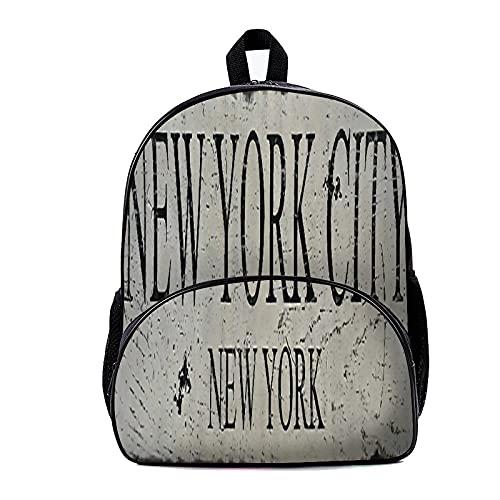 Zaino Scuola New York City New York 18x30x40cm Zaino Leggero Zaino per College Viaggi Lavoro per Uomo e Donna