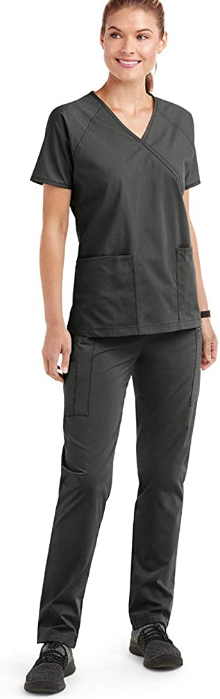 Strictly Scrubs Women's Classic Scrub Set (XS-3X, 14 Colors) – Includes Mock Wrap Top and Pant